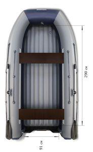 Лодка ПВХ Флагман DK 350 НДНД надувная под мотор